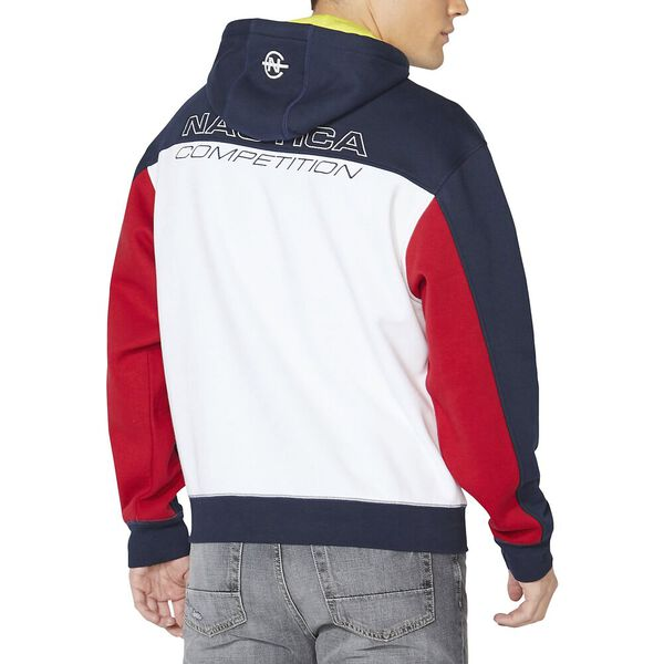Vintage Fit Competition Colourblock Pullover Hoodie, Navy, hi-res