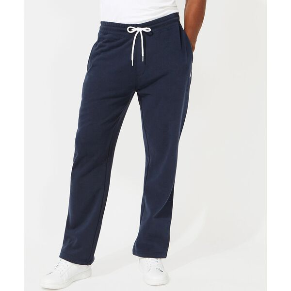 Solid Straight Leg Track Pants