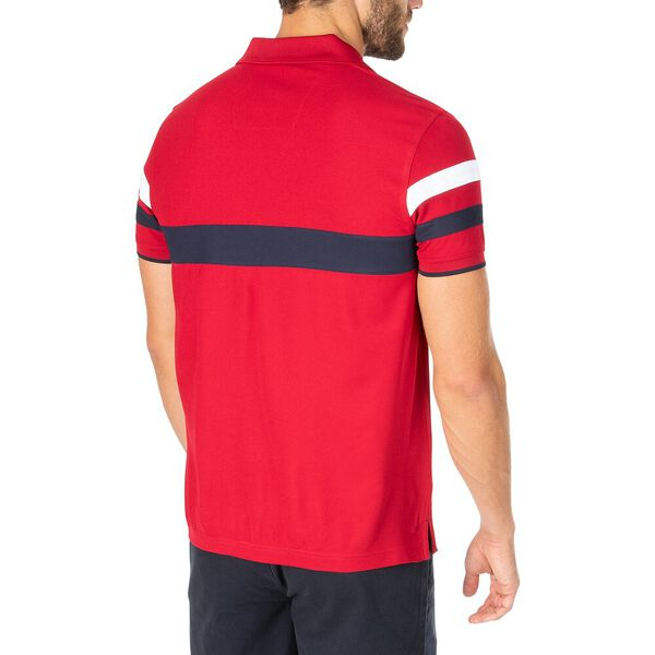 Sustainably Crafted Front Focus Polo, Nautica Red, hi-res