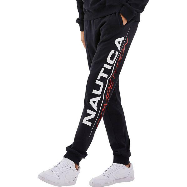 Nautica Competition Pinsi Track  Pants, Black, hi-res