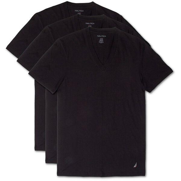 3 PACK V-NECK T-SHIRT, BLACK, hi-res