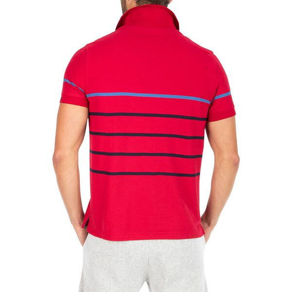 Classic Fit Sustainably Crafted Colour Stripe Polo, Nautica Red, hi-res
