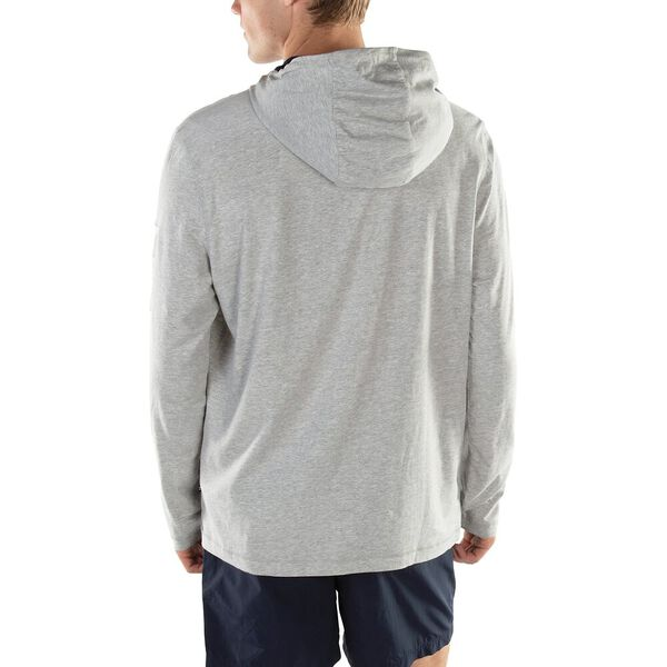 SOLID LOGO HOODIE, GREY HEATHER, hi-res