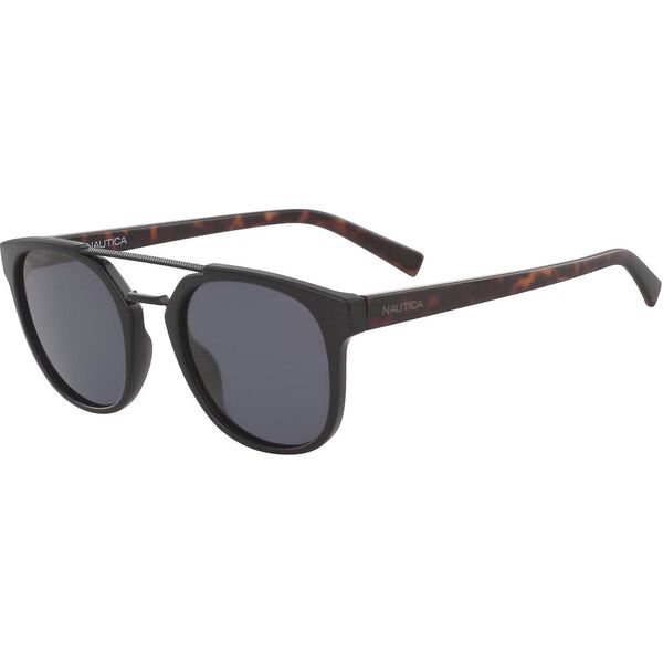 NAUTICA BROW BAR ROUND SUNGLASSES