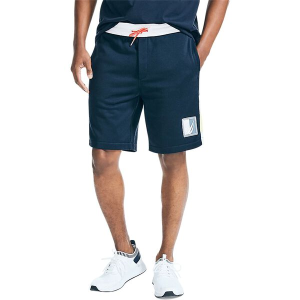 Nautical Band Track Shorts, Navy, hi-res