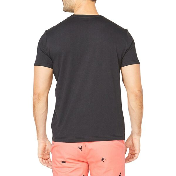 Logo Red Stripe Nautica Tee, Black, hi-res