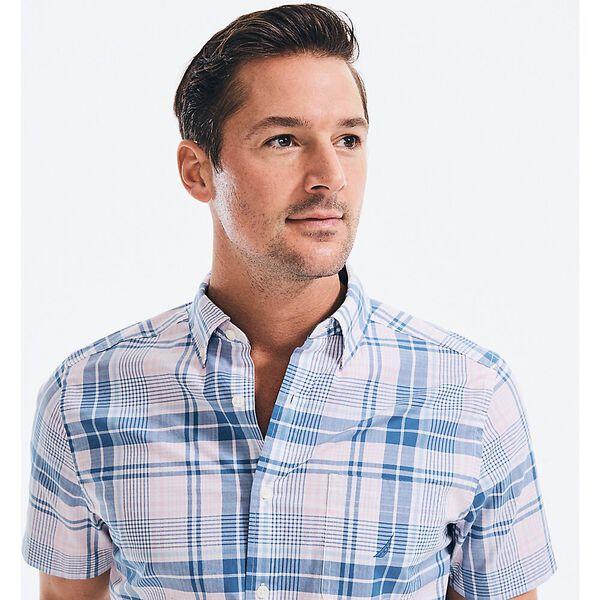Classic Fit Navtech Under Check Short Sleeve Shirt, Tea Berry, hi-res