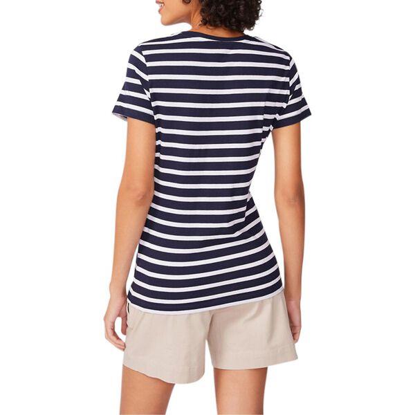 Stripe it Up Crew-Neck Tee, Navy, hi-res