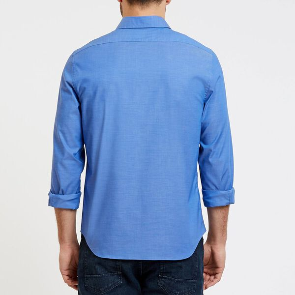 Solid Colour Wrinkle Resistant Shirt, French Blue, hi-res
