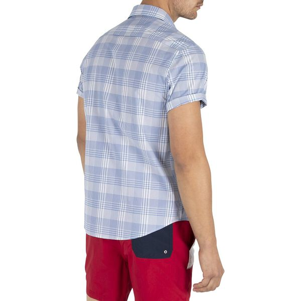 Navtech Slim Fit Shadow Plaid Shirt, Noon Blue, hi-res