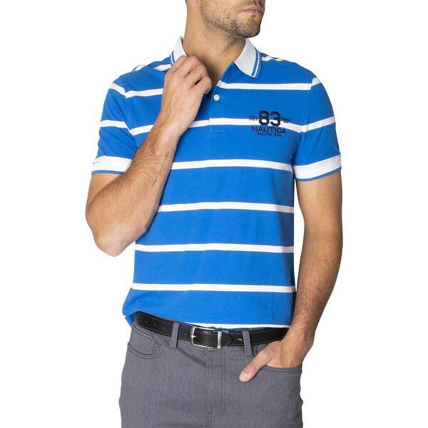 Slim Fit Harvard Stripe Polo, Spinner Blue, hi-res