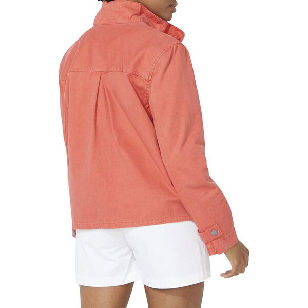 Nautica Jeans Co. A-Line Utility Jacket, Sunbaked Red, hi-res