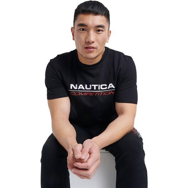Nautica Competition Vang Tee, True Black, hi-res