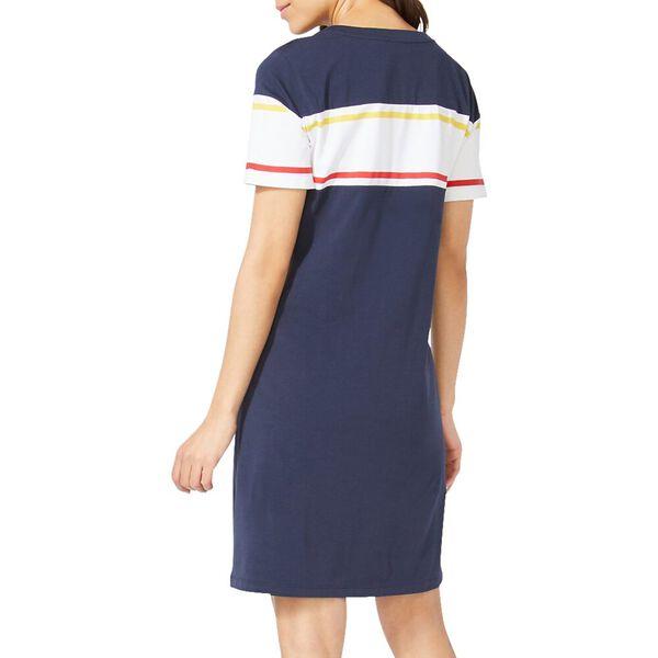 Nautica Logo Stripe Knit Dress Navy, Navy Seas, hi-res