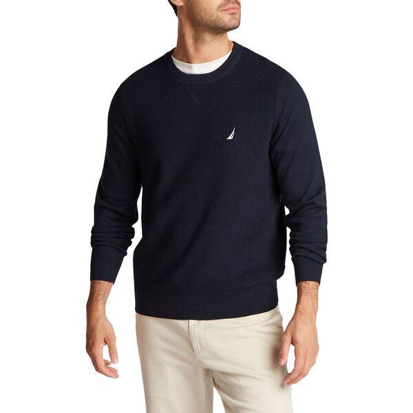 Crew Neck Navtech Sweater, Navy, hi-res