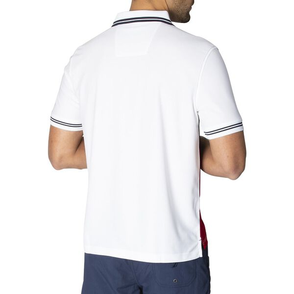 Navtech Colourblock Polo  Shirt, Bright White, hi-res