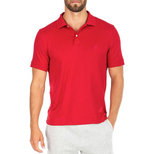 Classic Fit Premium Cotton Interlock Polo, Nautica Red, hi-res