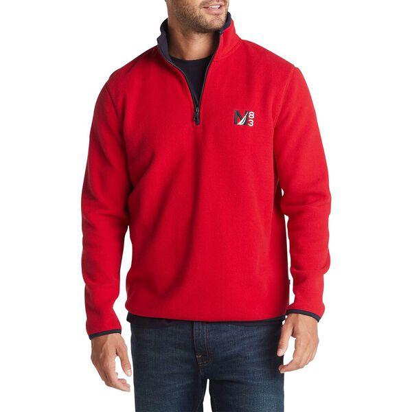 Nautex Half-Zip Sweater, Nautica Red, hi-res