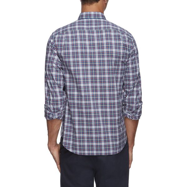 NAVTECH PLAID LONG SLEEVE SHIRT, SUNBAKED RED, hi-res