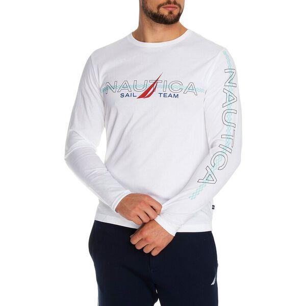 Nautica Sail Team Long Sleeve Tee, Bright White, hi-res