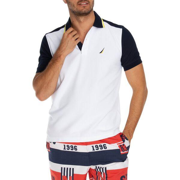 Performance Colour-block Polo, Bright White, hi-res