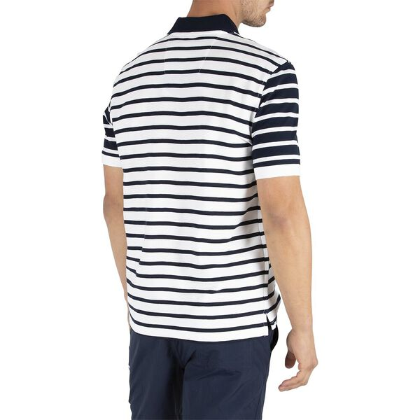 Sustainably Crafted Navtech Classic Stripe Polo, Bright White, hi-res