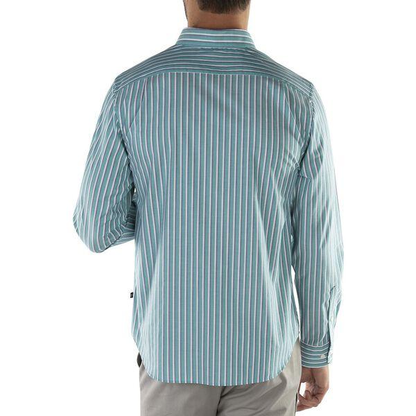Stripe Wrinkle Resistant Shirt, Biscay Teal, hi-res