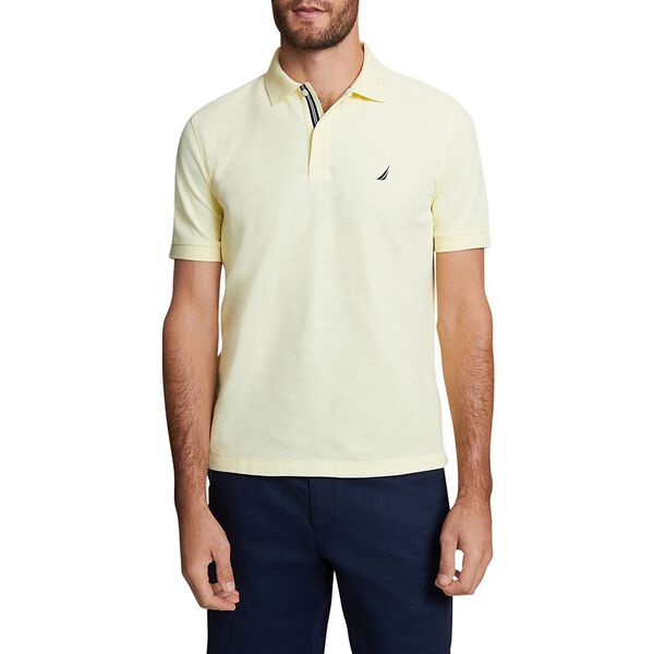 CLASSIC FIT SOLID MESH POLO SHIRT, FRENCH VANILLA, hi-res