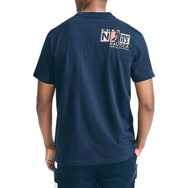 Nautical Band Pocket Tee, Navy, hi-res
