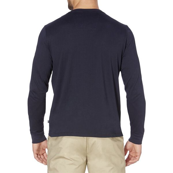 Classic Fit Long Sleeve Tee, Navy, hi-res