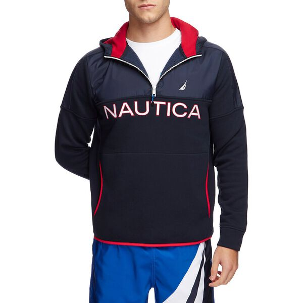 NAUTEX COLOUR BLOCKED 1/2 ZIP PULLOVER