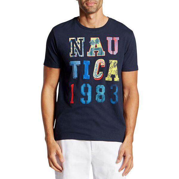 NAUTICA GRID 1983 TEE, NAVY, hi-res