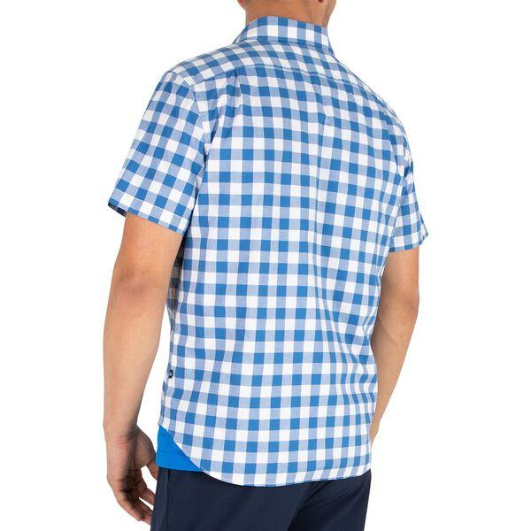 Classic Fit Block Plaid Shirt, Windsurf Blue, hi-res