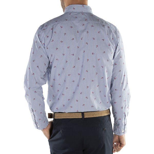 Button Down Stripe Shirt, True Blue, hi-res