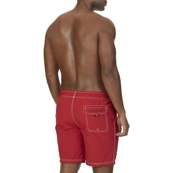 """Big & Tall 8"""" J Class Signature Swim Shorts, Nautica Red, hi-res"""