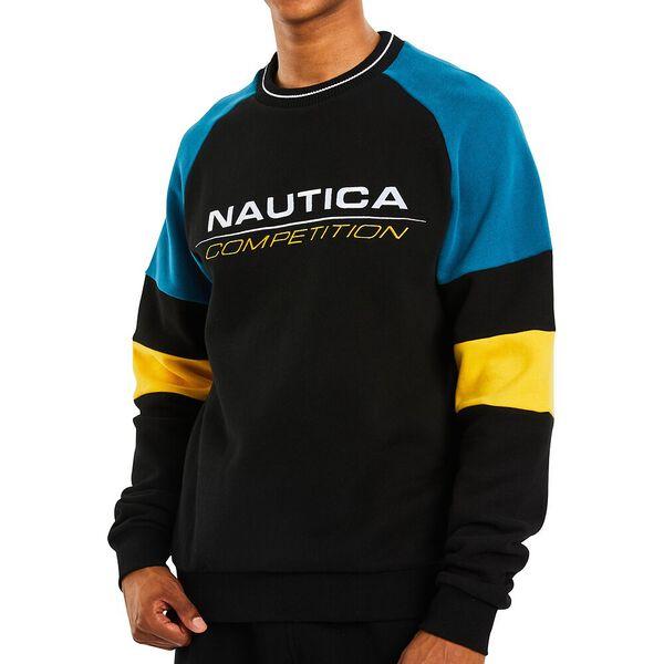 Nautica Competition Whaler Sweater, True Black, hi-res