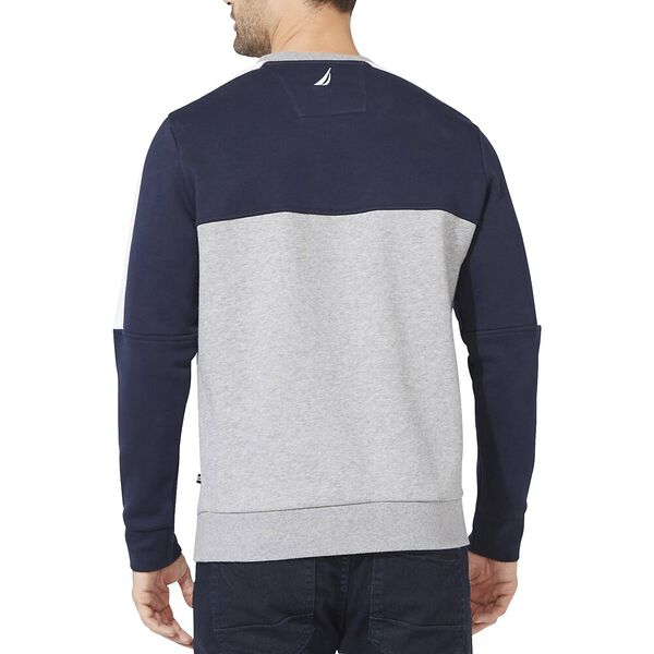 Starboard Block Graphic Crew Sweater, Navy, hi-res