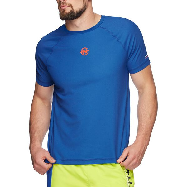 NAUTICA COMPETITION COOLIING SHORT SLEEVE TEE, BRIGHT NAUTICA BLUE, hi-res
