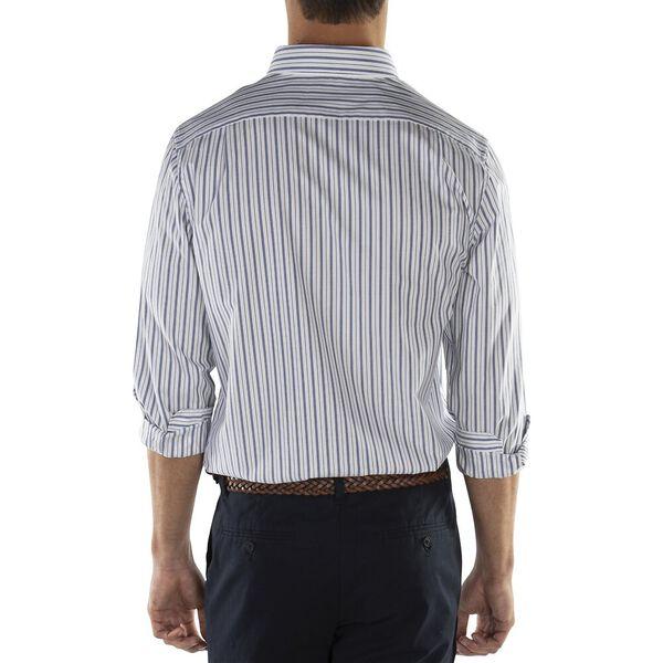 Fine Stripe Long Sleeve Shirt, Bright White, hi-res
