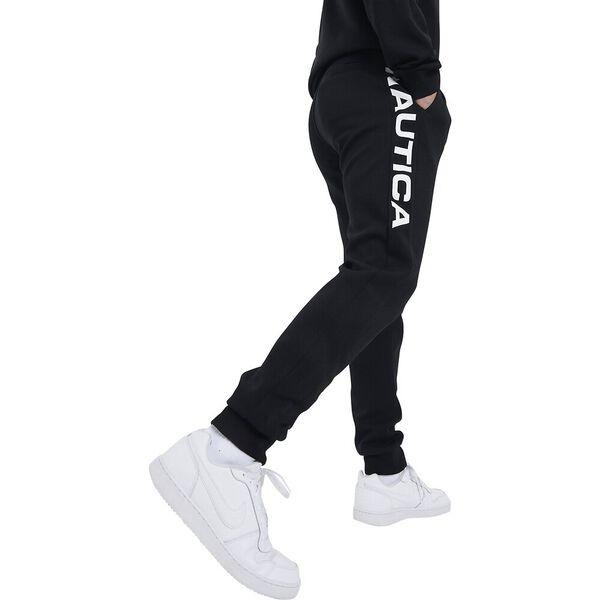 Nautica Competition Snapper Track Pants, Black, hi-res
