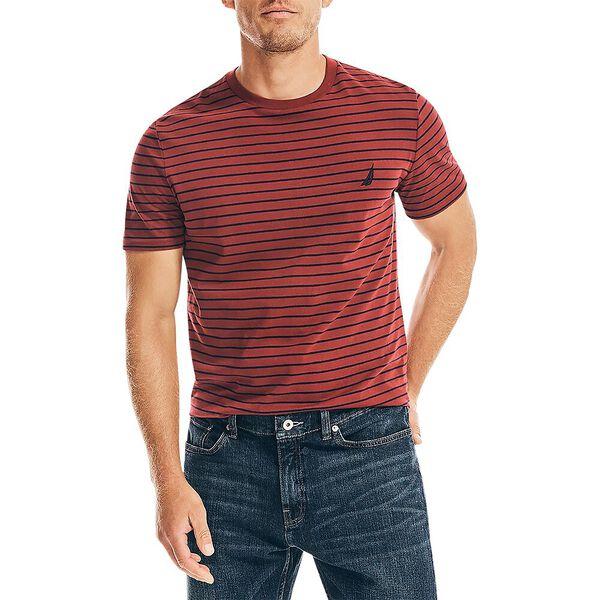 Striped Jersey Tee, Deep Crimson, hi-res