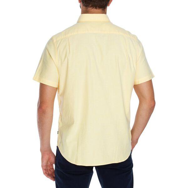 Blue Sail Short Sleeve Solid Oxford Shirt, Sunshine, hi-res