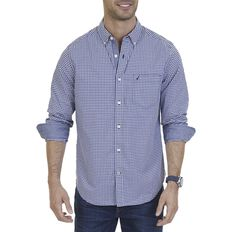 LONG SLEEVE GINGHAM POPLIN SHIRT