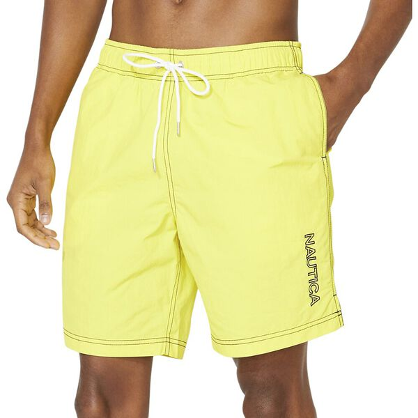 18' Logo Heritage Quick-Dry Swim Shorts, Blazing Yellow, hi-res
