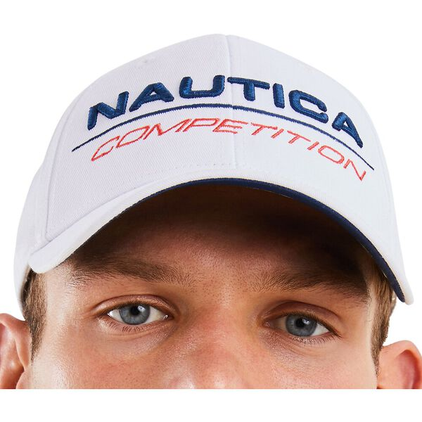Nautica Competition Tappa Snapback Cap, White, hi-res