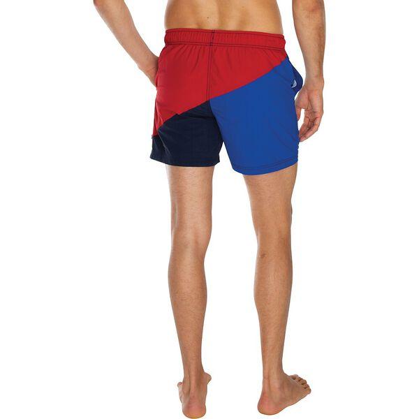 """6"""" Heritage Pieced Logo Quick-Dry Swim, Nautica Red, hi-res"""