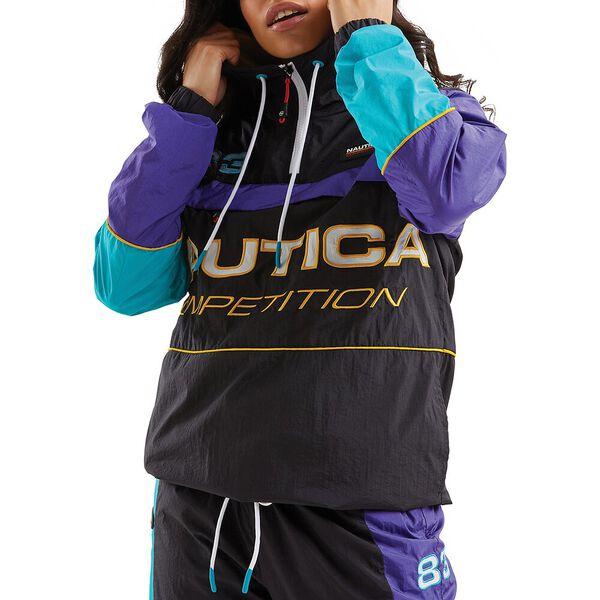 Nautica Competition Beam 1/4 Zip Shell Suit Jacket, Black, hi-res