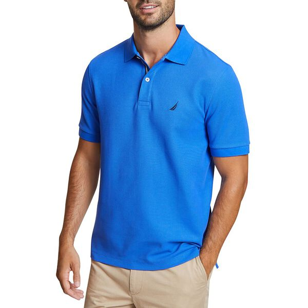 CLASSIC FIT SOLID MESH POLO SHIRT