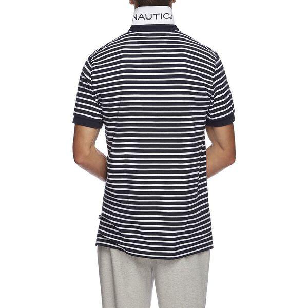 Short Sleeve Anchor Stripe Polo, Navy, hi-res