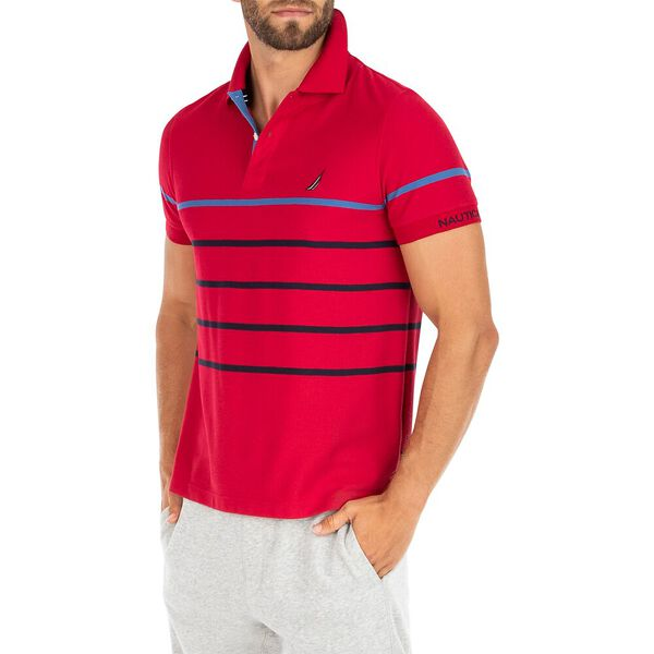 Classic Fit Sustainably Crafted Colour Stripe Polo